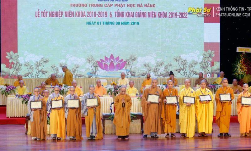 Trường Phật học Đà Nẵng tốt nghiệp niên khóa 2016-2019 và tổng khai giảng niên khóa 2019 – 2022