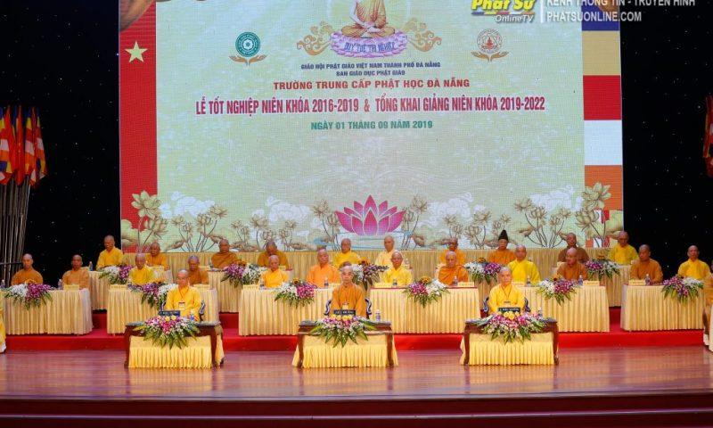 VIDEO Lễ tốt nghiệp 2016-2019 Tổng khai giảng 2019-2020-Trường trung cấp Phật học TP. Đà Nẵng tại Nhà Văn hóa Trưng Vương