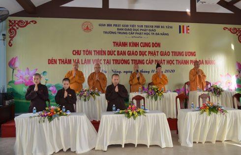 Ban Giáo Dục Phật Giáo Trung Ương GHPGVN thăm Trường Trung Cấp Phật Học Đà Nẵng