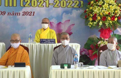 Đà Nẵng: Trường Trung cấp Phật học tổ chức trực tuyến lễ Tổng kết năm học thứ II (2020 – 2021) Khai giảng năm thứ III (2021 – 2022) các hệ đào tạo.