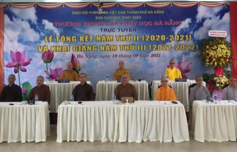 Phóng sự: Khai giảng và tổng kết trực tuyến Trường Trung Cấp Phật Học Đà Nẵng