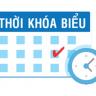 HỆ CƯ SĨ: Thời khoá biểu học online Học kỳ I năm III (2021-2022) khoá III