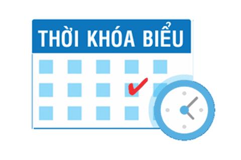 HỆ TCPH: Thời khoá biểu học online Học kỳ I năm III (2021-2022) khoá VIII